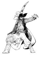 One Piece - Mihawk lines by ElectroCereal