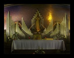 Altar with Pipe Organ by ace68