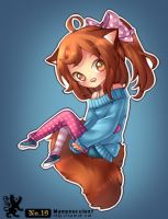 .: Collab: Red Panda Chibi :. by nilmea