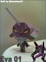 Chibi Eva 01 Papercraft Finished by rubenimus21