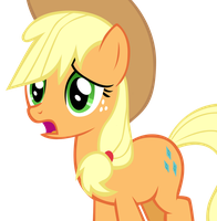 Applejack tried hard to Rarity... :( by Scootaloooo