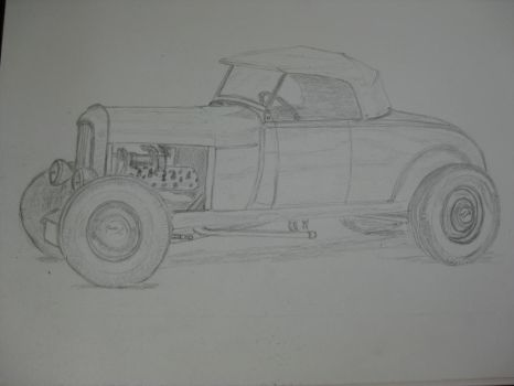 Street Rod drawing 2 by Frank003