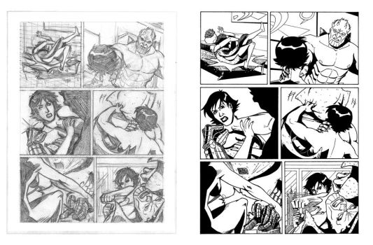 Nathan Never's proof pages - 04 - Layout 'n' Inks by AleMonaco