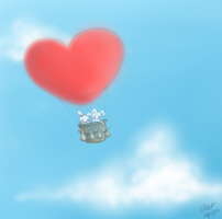 Love in the Clouds by sushiie