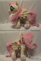 my little pony Fluttershy  plush (commission) by Little-Broy-Peep