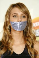 Emma Roberts tape gagged by ikell