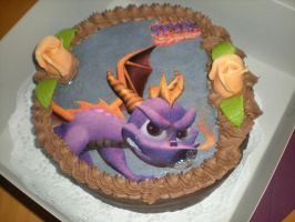 Surprise Spyro cake by IcelectricSpyro