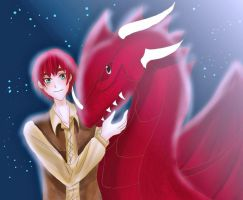 Wales and his dragon by D-Deciso
