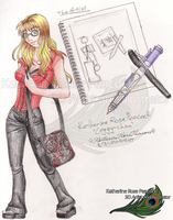 My Characters - Leggy-chan - 2007 by KatherineRosePeacock