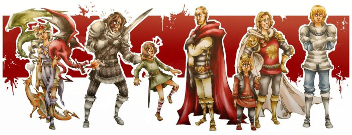 A Song of Ice and Fire - Some characters by Worgue