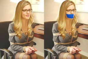 Emily Bett Rickards - Ungagged and Gagged by Exidor77