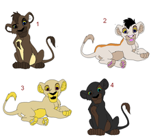 Lion king adoptables 1: OPEN by Shadowpaw909