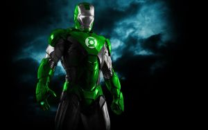 Iron Man Green Lantern Armor by 666Darks