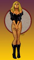 Black Canary color by TMD by DONAHUE-t