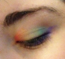 Rainbow Eyeshadow by xXBroken-InsanityXx