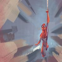 spidey sketch by flavianos