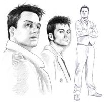 2009 Doctor Jack Ianto sketch by harbek
