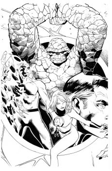Fantastic four by Coipel inks Curiel by lobocomics