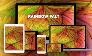 loy poly wallpaper pack: Rainbow Falt by empessah