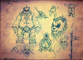 boceto World of Warcraft Mists of pandaria by vaghot