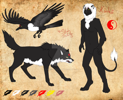 Kinko the shape shifter - reference sheet commi by StanHoneyThief