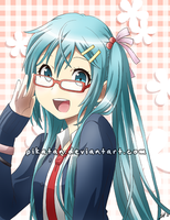 VOCALOID2: Megane Miku by asterkun