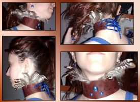 Alpine Phoenix leather choker by Innerwolf88