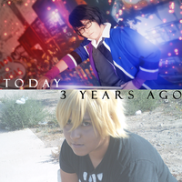Cosplay comparison (3 years ago vs today) by Ritsuka-Takahashi