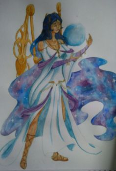 Goddess of Space and Time - Watercolour by LightWorldMidna