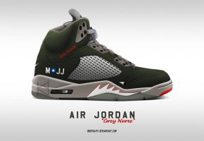 Air Jordan 5 Premier 'Grey Nurse' by BBoyKai91