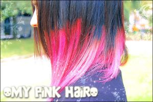 My pink hair by Mad3m0is3ll3-K3y