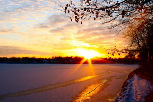 Ice, Snow, Sun by BecciJsPhotography