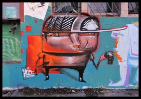 graffiti orange characters / acet1 by acet1