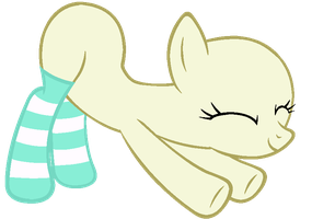My Little Pony Base #27 [Stretching in Socks] by DrugzRbad