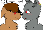 dear/Ask Shadow Claws and Silver Fang by Miss-Shadow-Claws