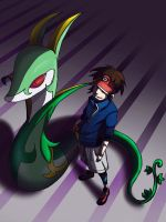 Nate and Serperior by weezajin