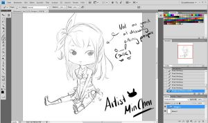 WIP: Chibi Lucy by ArtistMinChen
