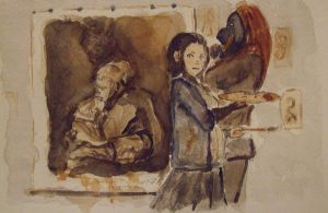 Fiera and woman in mourning pa by CD8521