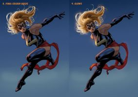 Ms Marvel Steps 8 + 9 by davidyardin