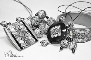 "Collection ""Black and White"" by OrionaJewelry"