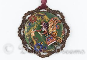 Steampunk Fairy Pendant by DeidreDreams
