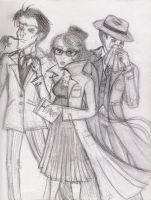 Three Snicket Siblings by invadertwinkie