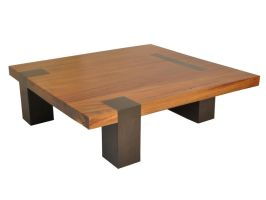 Square Tamburil Coffee Table - Walnut Legs by RotsenFurniture