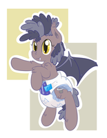 Fluffy Bat Pony by Hourglass-Sands
