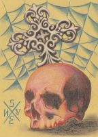Skull And Cross by smurfpunk