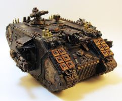 Land Raider Redeemer Front 1 by NicholasKay