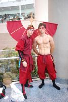 Aang and Zukko in Fire Nation Attire by miss-a-r-t