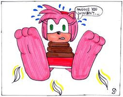 Amy Rose Magic Tickle: P4 by SPATON37