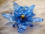 recycled plastic bottles flower by tamas kanya by tom-tom1969