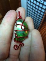 red and green pendant by xXHallowHeartXx